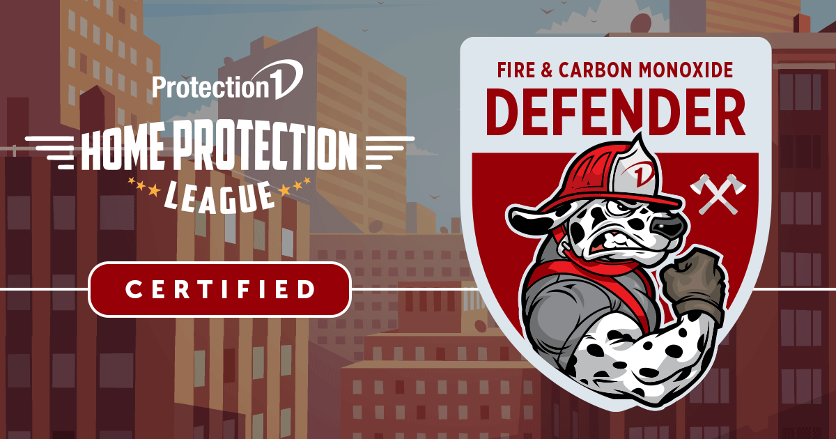 Protection 1 Home Protection League Certified Fire and Carbon Monoxide Defender
