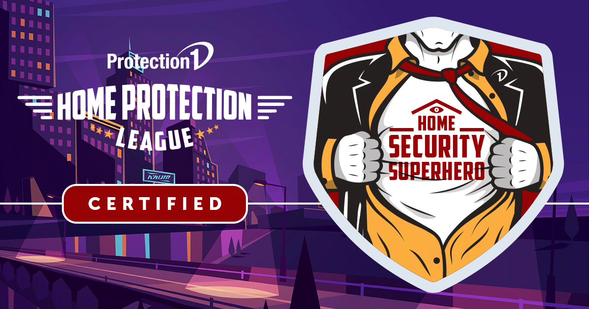 Protection 1 Home Protection League Certified Home Security Superhero